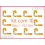 Kit Com 10 Cabos Flat Flet Flex J Play Station 2 90001 Ps2