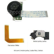 Leitor Óptico + Cabo Flat + Motor Playstation 2 Série 7900x