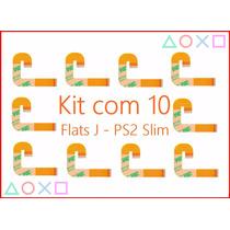 Kit 10 Cabos Flat J Leitor Óptico Playstation Slim 90xx Flex