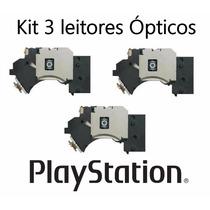 Kit 3 Leitor Óptico Canhão Playstation 2 Todos Modelos Slim