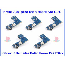 Kit Com 5 Placas Reset Slim Ps2 7000x Botão Liga/desliga