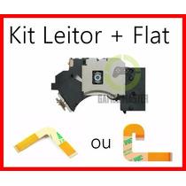Leitor Óptico + Flat L Ou J Playstation 2 Todos Modelos Slim