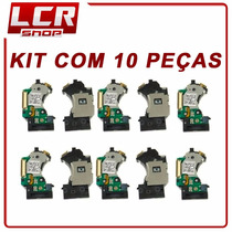 Kit Com 10 Leitor Óptico Playstation 2 Slim Original Co08