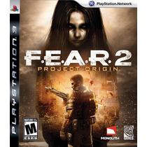F.e.a.r Fear 2 Project Origin - Ps3, Mídia Física Usado