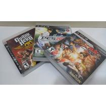 Jogos Ps3, 3 Jogos (pes 2013, Guitar Hero, Street X Tekken)