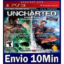Uncharted 1 E 2 Dual Pack Ps3 Código Psn