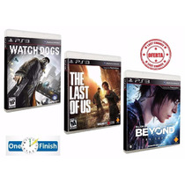 Game Watch Dogs + The Last Of Us + Beyond - Ps3