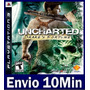 Uncharted 1 Drakes Fortune Ps3 Código Psn Legendas Portugues