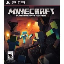 Minecraft Edition Ps3 Psn Original Play 3 Playstation 3