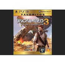 Uncharted 3 Drake´s Deception Ps3 - Novo Original Lacrado