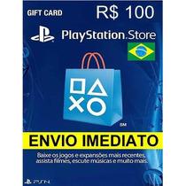 Cartão Psn R$ 95 Reais Brasil - Ps3 / Ps4