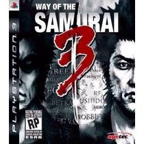 Manual De Instruções Jogo Way Of The Samurai 3 Ps3 Seminovo