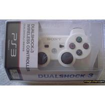 Controle Ps3 Dualshock 3 Branco 100% Original Playstation 3