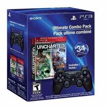 Gamer Kit Uncharted Controle Para Ps3 + 2 Jogos Originais