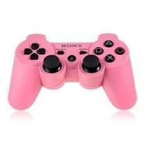 Controle Para Playstation3 Ps3 Original Rosa - Linha Cores
