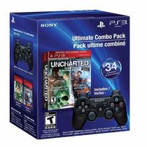 Controle Ps3 Com Jogos Uncharted E Uncharted 2v