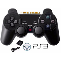 Controle Para Video Game Ps1 Ps2 Ps3 Pc Wireless Sem Fio