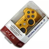 Controle Ps3 Sony Original Na Caixa Lacrado Wireless Dourado