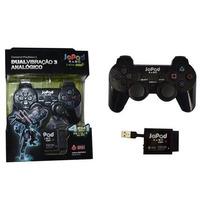 Controle Joystick Sem Fio Dual Shock Ps1 Ps2 Ps3 Pc