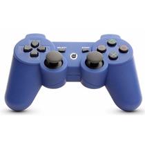 Controle Dual Shock Bluetooth Sem Fio Azul - Ps3 Playstation