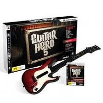 Jogo Guitar Hero 5 + Guitarra Bundle Playstation 3 Original