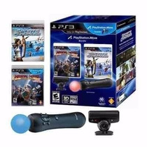 Playstation Move Ps3 + 2 Jogos Kit Completo Frete Light