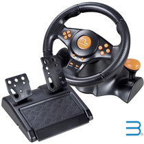 Volante Ps2/ps3/pc Multilaser Racer Gamer Js074 (sem Fio)