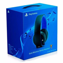 Headset Gold 7.1 Wireless Stereo Sony Ps3 Ps4 - Original