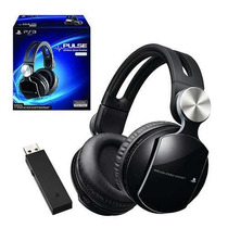 Headset Pulse Elite Wireless Stereo Sem Fio Ps4 Ps3 Sony 7.1