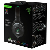 Headset Razer Kraken 7.1 Chroma Som Surround Usb Pc Mac Ps4