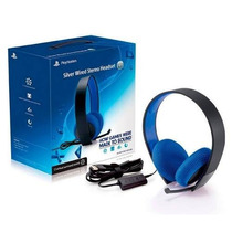 Fone Silver Wired Stereo Headset 7.1 Ps4/ps3/ps Vita/pc