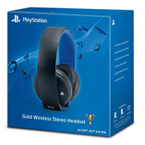 Headset Sony Gold 7.1 Wireless Stereo Ps4 Ps3 Ps Vita Pc P2