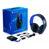 Headset Gold 7.1 Sony Wireless Stereo Ps3 Ps4 Ps Vita Pc