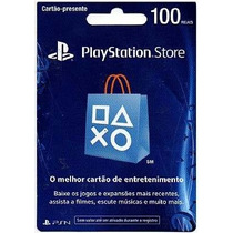 Cartão Playstation Store Brasil 100 Reais Psn Brasileira