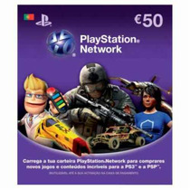 Psn Card 50 Eur Portugal Cartão Playstation Network Imediato