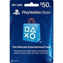 Playstation Network Card 50 Cartão Psn $50 Envio Imediato!