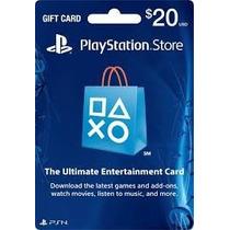 Cartão Psn Playstation Network Card Cartão Psn $20 Usd Dolar