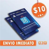 Psn Card - Playstation Network Card - Cartão Psn $10 P/ Ps3