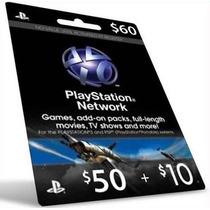 Playstation Network Card 60 Cartão Psn $60 Envio Imediato!