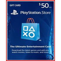 Playstation Network Card - Psn $50 - Melhor Preço Aproveite!