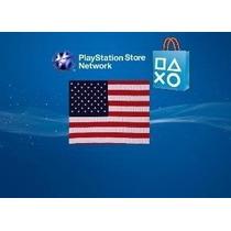 Cartão Playstation Network De U$ 50, Valido Somente Para Psn