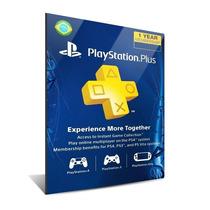 Cartão Psn Playstation Plus 12 Meses Brasileira Br Ps3 Ps4