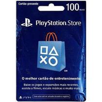 Cartão Playstation Store Brasil R$ 100 Psn Brasileira