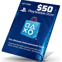 Playstation Network Gift Card Cartão Psn $50 Dolares Ps3 Ps4