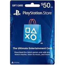50 Psn Card Ps3 Ps4 Playstation Network - Entrega Imediata