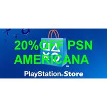 Cartão Psn Playstation Network Card Cartão Psn 20% Desconto