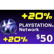 Cartão Psn Playstation Network Card Combo $50 Usd Dolar 20%