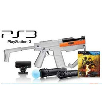 Kit Move Completo + Sony Sharp Shooter + Jogo Ps3