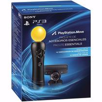 Kit Movie Essentials Para Playstation 3 Move + Camera Ps3