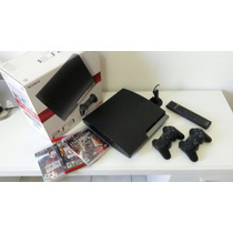 Playstation 3 + 2 Controles + Controle Blue Ray + Headset